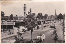 27673Enschede , Station 1955 (zie Hoeken En Randen) - Enschede