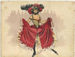 Carte-lettre Illustrée A Systeme - Danseuse - French Cancan - Mouchon 1905 - Pin-Ups
