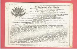 NANCY 8e REGIMENT ARTILLERIE HISTORIQUE DU REGIMENT CARTE EN BON ETAT - Nancy