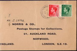 GB - EDWARD VIII - NORRIS & CO. PHILATEL DEALER  ALFRETON  1937. - 1902-1951 (Könige)