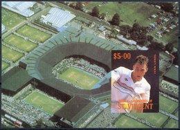 St. Vincent - Bequia 1988 International Tennis Players $5 Msheet (Ivan Lendl) As Issued But Imperf 1 Sheet - Tennis