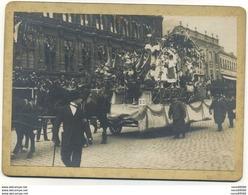 Carte Photo Cartonnée 59 Valenciennes Carnaval D'ete Juin 1923 Le Char De La Brasserie Tres Rare - Valenciennes