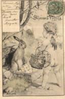 D 0215 - Joyeuses Pâques    Lapin Et Petit Enfant - Pasqua