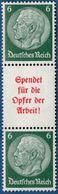 """Germany 1934 Hindenburg 6+A5+6 """"Spendet Für Die Opfer Der Arbeit"""" From Booklet Sheet, MH 2005.1403 Michel SK126 - Se-Tenant"""