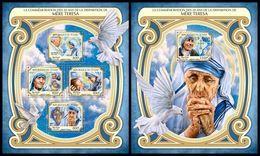 CHAD 2017 - Mother Teresa - YT 1951-4 + BF195, CV=39 € - Mother Teresa