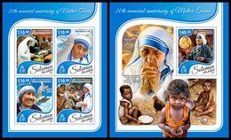 SOLOMON Isl. 2017 - Mother Teresa - YT 3949-52 + BF699, CV=38 € - Mother Teresa
