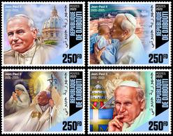 DJIBOUTI 2020 - John Paul II, Mother Teresa, 4v. Official Issue [DJB200102c] - Mother Teresa