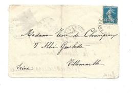 France Curiosité Devant De Lettre 1921 Adressée Et Timbrée Recto/Verso ? 2 Scans - Variedades Y Curiosidades