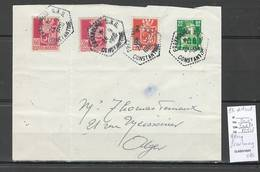 Algerie - Lettre  - Cachet Hexagonal PRAXBOURG SAS -  Marcophilie - Covers & Documents