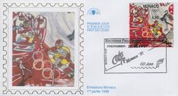 Enveloppe  FDC  1er  Jour   MONACO   Jeux  Olympiques  De  NAGANO   1998 - Winter 1998: Nagano