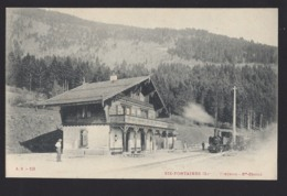 Gare De Six Fontaines - Bahnhof - Train à Vapeur - Dampflok - VD Vaud