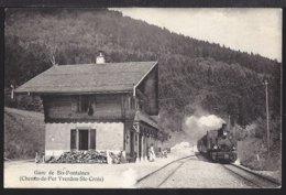 Gare De Six Fontaines - Bahnhof - Train à Vapeur - Dampflok - 1910 - VD Vaud