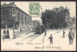 St.Gallen - Einfahrt - Bahnhof - La Gare - Belebt - Dampflok - 1906 - SG St. Gall