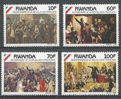 Rwanda - 1356/1359 - Révolution Française - 1990 - MNH - Rwanda