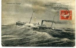 Souvenir De Voyage. Djurjura. Paquebot Poste De La Cie Touache Par Grosse Mer. - Steamers