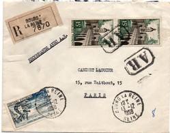 Bourg-la-Reine 1958 - Lettre Recommandée Avec étiquette Et Griffe - Marcophilie (Lettres)