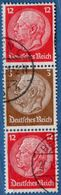 Germany 1939 Hindenburg 12+3+12 From Booklet 2005.1408 Michel S180 - Se-Tenant