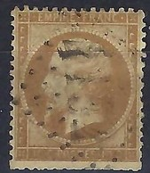 FRANCE Classique 1849-1900: Le Y&T 21b,  Obl. GC 4152 (Vernon. Ind.3), Variété ''Impression Défectueuse'' - 1862 Napoléon III