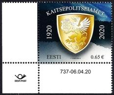 Estonia Estland Estonie 2020 (10) Estonian Internal Security Service 100 (with Number Of Issue) - Estonia