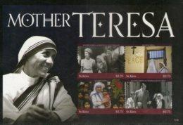 St. Kitts 2011 Mother Teresa Of India Nobel Prize Winner Sc 805 Sheetlet MNH # 6056 - Mother Teresa