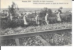Musson - 1914 - Soldat Allemands Gardant La Ligne Du Chemin De Fer / Patrouille Die Bahn Bewachend - FELDPOST Karte N°47 - Musson