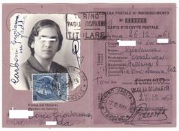 TESSERA - RICONOSCIMENTO POSTALE - 200 LIRE - ANNO 1955 - Vecchi Documenti