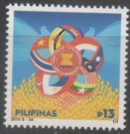 PHILIPPINES, 2015, MNH, ASEAN COMMUNITY,  FLAGS,1v - Non Classificati