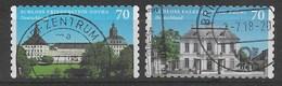 BRD 2018 Mi.Nr. 3388/89 , Schoß Friedenstein / Falkenlust - Selbstklebend / Self-adhesive - Gestempelt / Fine Used / (o) - Used Stamps