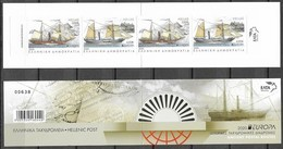 GREECE, 2020, MNH,EUROPA, TRANSPORT ROUTES, SHIPS,BOOKLET OF 4v, IMPERFORATE VARIETY - Europa-CEPT