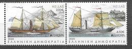 GREECE, 2020, MNH,EUROPA, TRANSPORT ROUTES, SHIPS, 2v - Europa-CEPT