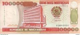 MOZAMBIQUE 100000 METICAIS 1993 UNC P 139 - Mozambique
