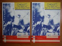 CPM Cholet - Ville étape Tour De France 1998 X 2 - Cholet