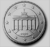 MONNAIE 10 Cent 2002 ALLEMAGNE  Euro Fautée Non Cuivrée Etat Superbe - Abarten Und Kuriositäten