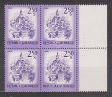 1974 , Mi 1441 ** (8) -  4er Block Postfrisch - Freimarke : Schönes Österreich , Murau , Steiermark - 1945-.... 2. Republik