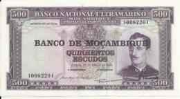 MOZAMBIQUE 500 ESCUDOS 1967 AUNC P 118 - Mozambique