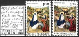 [850236]TB//**/Mnh-Belgique 1971 - N° 1608-CUR, Noël-KERSTMIS, Traits Sur La Vierge Absents, RARE, Jamais Vu Avant, SNC - Abarten Und Kuriositäten