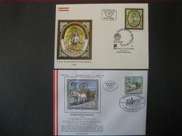 Österreich 1985- FDC 2 Belege Tag Der Briefmarke 1985, Historische Kostbarkeiten - FDC