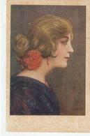 """J.Piza Roig. Spanish Lady With Red Carnation""  Nice Spanish Postcard 1930s - Femmes"