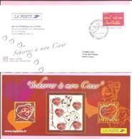"""2005. PAP De Service : INVITATION Premier Jour. """" Scherrer à Mon Coeur """". (Y&T N°3760). Avec Carte. Circulé. - Ganzsachen"""