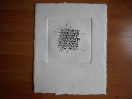 Calligraphie Sur Papier Artisanal - Maxime Ironique Sur La Jeunesse Et Les Voyages - Otras Colecciones