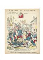 DIJON 1870 Couverture De Cahier Nos Villes Décorées Bien/TB 225 X 170  3 Scans - Protège-cahiers