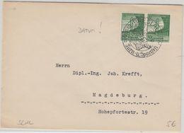 DR - Breslau 1928 SST Dt. Turn- U. Sportfest Stempelfehler Brief  N. Magdeburg - Duitsland