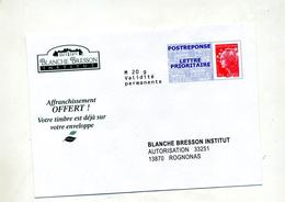 Pap Reponse Beaujard Institut Blanche Bresson - Postal Stamped Stationery