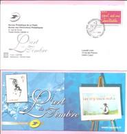"""2006. PAP De Service : INVITATION Premier Jour. """" L'art Du Timbre """". (Y&T N°3760). Avec Carte. Circulé. - Ganzsachen"""