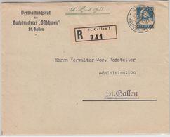 Schweiz - 30 Rp. Tell Einschreiben Ortsbrief St. Gallen 1933 Einladungskarte - Schweiz