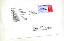Pap Reponse Beaujard Adam Et Eve - Postal Stamped Stationery