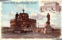 Grand Hotel De La Minerve Rome /LEGER PLI COIN  / LOT  4072 - Cafés, Hôtels & Restaurants
