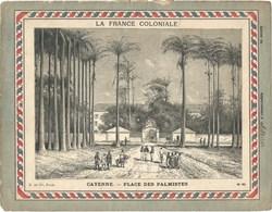 GUYANE Cayenne Place Des Palmistes Couverture De Cahier La France Coloniale Bien/TB 225 X 170  3 Scans - Protège-cahiers