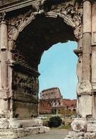Italie Roma Arco Di Tito E Colisseo (2 Scans) - Colisée