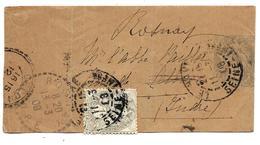 Devant De BANDE Journal 1c BLANC + Complément Timbre 1c BLANC = 2c (tarif De 1908) - Entiers Postaux